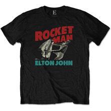 T-Shirt Unisex Tg. L. Elton John: Rocketman Piano