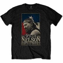 T-Shirt Unisex Tg. S Willie Nelson: Born For Trouble