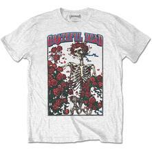 T-Shirt Unisex Tg. L Grateful Dead: Bertha & Logo White