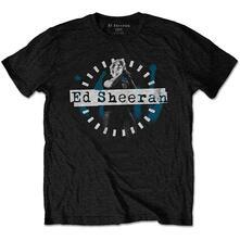 T-Shirt Unisex Tg. M. Ed Sheeran: Dashed Stage Photo