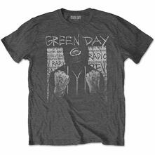 T-Shirt Unisex Tg. L. Green Day: Ski Mask