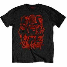 T-Shirt Unisex Tg. L Slipknot: Wanyk Red Patch