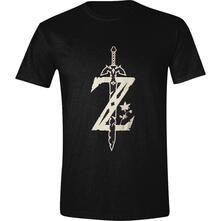 T-Shirt Unisex Tg. L. Zelda - Master Sword Z Black