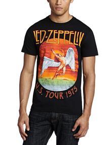 T-Shirt Unisex Tg. L. Led Zeppelin: Usa Tour 75.