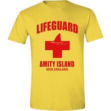 T-Shirt Unisex Tg. L. Jaws: Amity Island Lifeguard Yellow