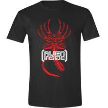 T-Shirt Unisex Tg. XL. Alien: Inside Black