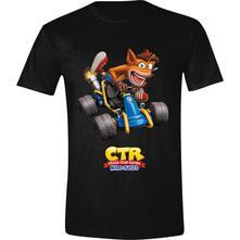 T-Shirt Unisex Tg. XL. Crash Team Racing: Crash Car Black