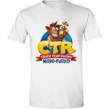 T-Shirt Unisex Tg. XL Crash Team Racing: Nitro Fueled Logo White