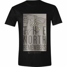 T-Shirt Unisex Tg. XL. Game Of Thrones: The Wolf Remembers Black
