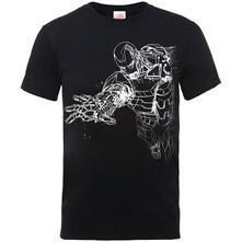 T-Shirt Bambino Marvel Comics. Iron Man Mono Black