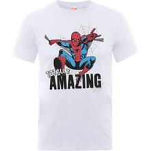 T-Shirt Bambino Marvel Comics. Amazing Spiderman White