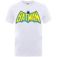 T-Shirt Bambino Dc Comics. Batman Logo White