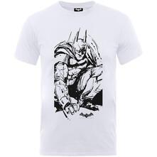 T-Shirt Bambino Dc Comics. Batman Arkham Sketch White