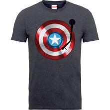 T-Shirt Bambino Marvel Comics. Captain America 75Th Captains Record Dark Grey
