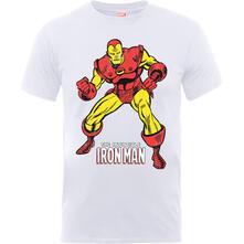 T-Shirt Bambino Marvel Comics. Iron Man Pose White