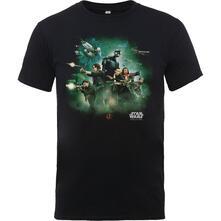 T-Shirt Bambino 5/6 Anni Star Wars. Rogue One Poster Black