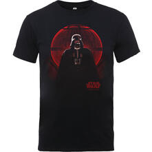 T-Shirt Bambino Star Wars. Rogue One Death Star Glow Black