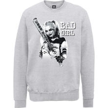 Felpa Unisex Dc Comics. Suicide Squad Bad Girl Grey