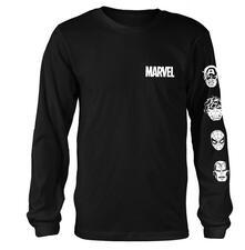 Maglia Manica Lunga Unisex Marvel Comics. Stacked Heads