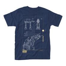 T-Shirt Unisex Star Wars Rogue One. Blue Print