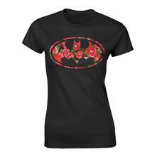 T-Shirt Donna Dc Originals. Batman Flower Logo