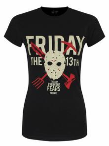 T-Shirt Donna Friday The 13Th. Day Of Fear. Taglia M