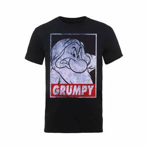 T-Shirt Unisex Disney. Snow White Grumpy Dwarf Poster. Taglia S