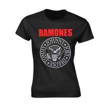 T-Shirt Donna Tg. 2XL Ramones. Red Text Seal Logo