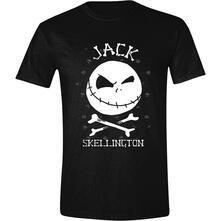 T-Shirt Unisex Tg. M. Nightmare Before Christmas: Jack Face Black