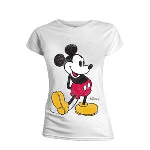 T-Shirt Donna Tg. XL Mickey Mouse - Classic Kick White