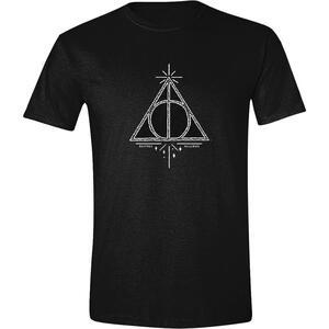 T-Shirt Unisex Harry Potter - Deathly Hallows Symbol Black Taglia M