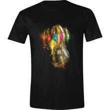 T-Shirt Unisex Tg. L. Marvel: Avengers: Endgame - Thanos Fist Black