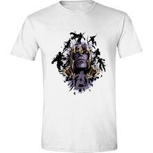 T-Shirt Unisex Tg. S. Marvel: Avengers: Endgame - Thanos Fist White