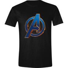 T-Shirt Unisex Tg. M. Marvel: Avengers: Endgame - Heroic Logo Black