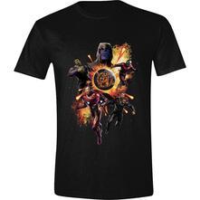 T-Shirt Unisex Tg. M. Marvel: Avengers: Endgame - Thanos & Avengers Black