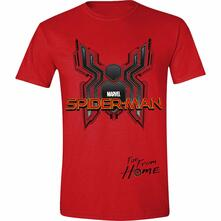 T-Shirt Unisex Tg. M. Spider-Man: Far From Home - Digital Emblem Red