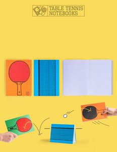 Cartoleria Notebook Ping Pong. Table Tennis Trading Group 0