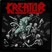 Kreator. Pleasure To Kill-unisex. O/s. Standard Patch. Accessories. Multi-coloured. Retail Packaged. Sold In Multiples Of 10 Per Design.
