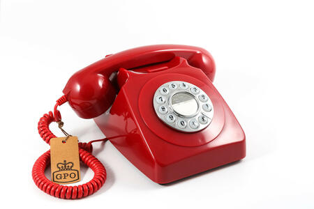 Telefono Vintage Gpo 746 Push Button Red