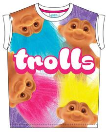 T-Shirt bambina Trolls. Big Print Sublimation