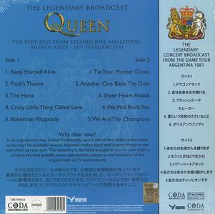 The Game Tour 1981 (Japan Edition - Clear Vinyl) - Vinile LP di Queen - 2