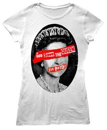 T-Shirt Donna Sex Pistols. God Save The Queen