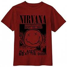 T-Shirt Unisex Nirvana. All Ages Flyer