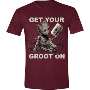 T-Shirt Unisex Tg. M Guardians Of The Galaxy Vol 2.. Get Your Groot On Red