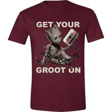 T-Shirt Unisex Tg. XL Guardians Of The Galaxy Vol 2.. Get Your Groot On Red
