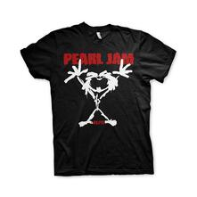 T-Shirt Unisex Tg. L. Pearl Jam: Stickman