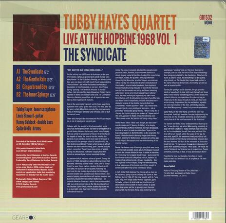 The Syndicate. Live at the Hopbine 1968 (Hq) - Vinile LP di Tubby Hayes - 2