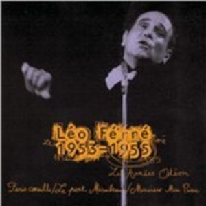 Les Années Odeon 1953-1955 - CD Audio di Léo Ferré