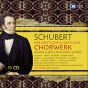Sacred & Secular Choral - CD Audio di Franz Schubert