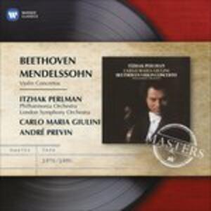 Concerti per violino - CD Audio di Ludwig van Beethoven,Felix Mendelssohn-Bartholdy,Carlo Maria Giulini,Itzhak Perlman,Philharmonia Orchestra